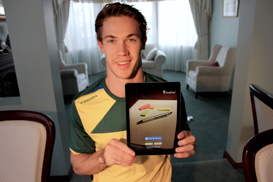 Australian Olympian launches app to help students fine-tune their essays and avoid plagiarism