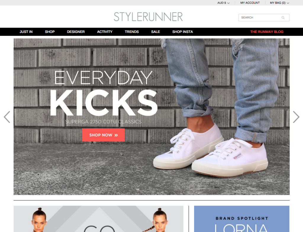 Stylerunner.com Screenshot