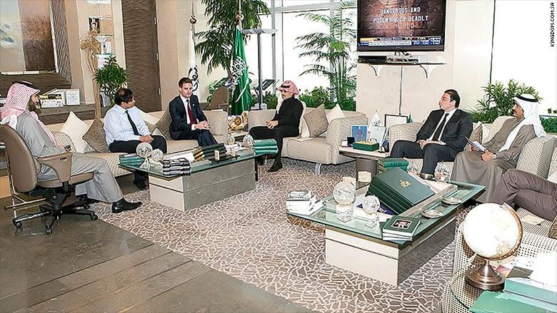 Evan Spiegel meets with the Saudi Prince | Source: Kingdom.com
