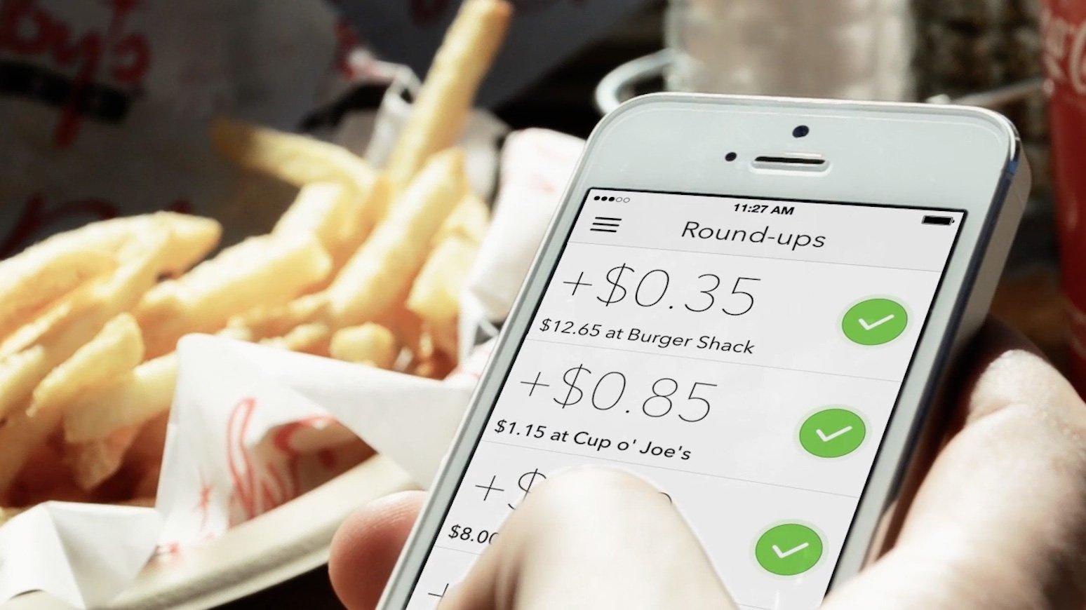 Acorns App - Round-ups