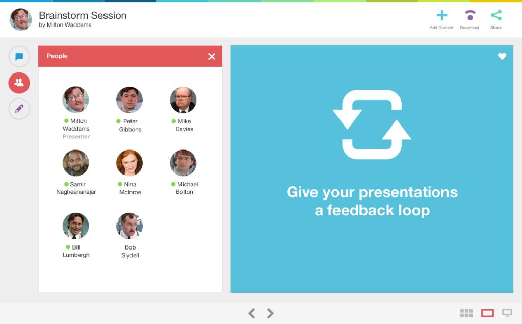 Creating a conversation   Screenshot: Zeetings