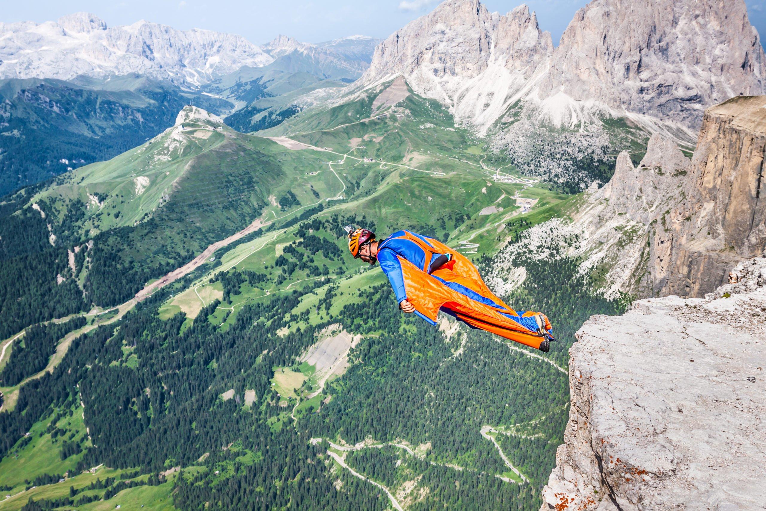 jump, parachute
