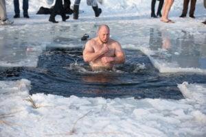 ice bath, frozen,