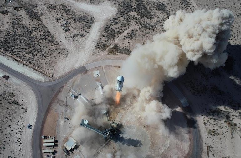 Blue Origin rocket launch