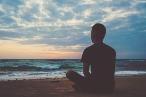 Meditation, beach