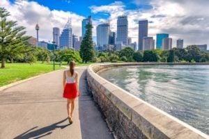 Sydney, Botanic Gardens, skyline
