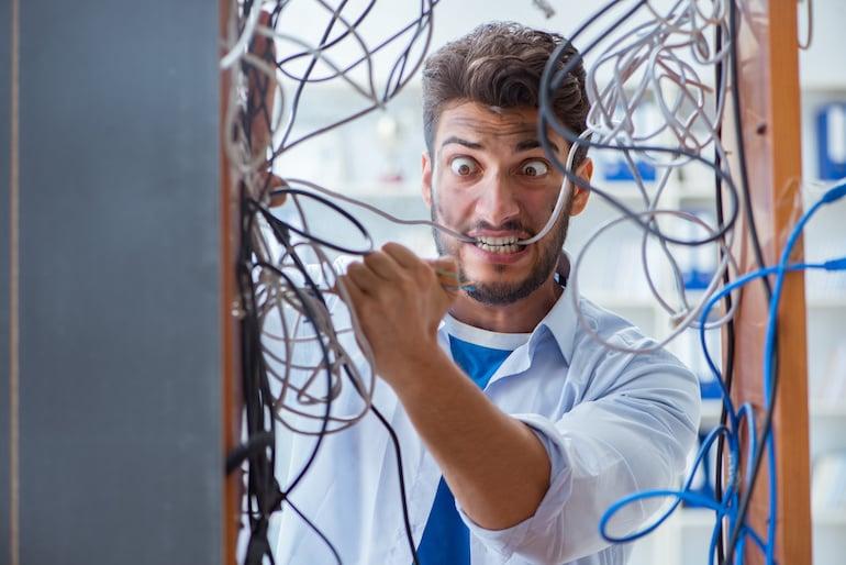digital computer mess wiring