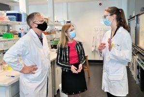 Prof. Palli Thordarson, Gabriel Upton, UNSW student Annika